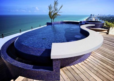 RES Custom Stainless Steel Rooftop Pool and Spa